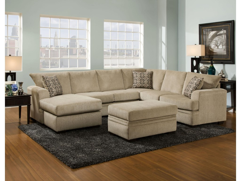 American Furniture 6800Stationary Living Room Group