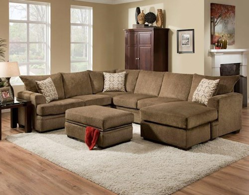 American Furniture 6800 Stationary Living Room Group