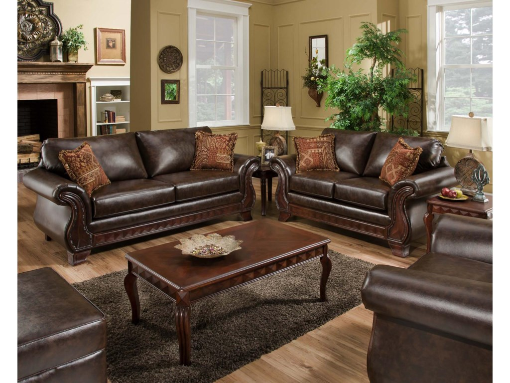 American Furniture 6900Stationary Living Room Group