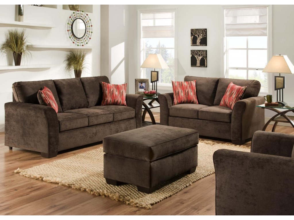 American Furniture 7670Stationary Living Room Group