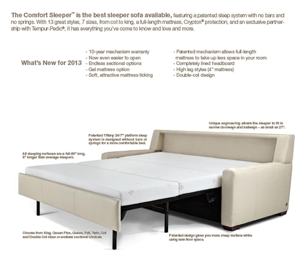 american leather comfort sleeper - hannah contemporary full sofa
