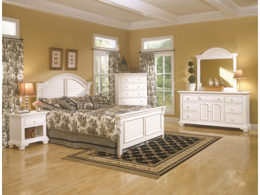 American Woodcrafters Cottage TraditionsKing Bedroom Group