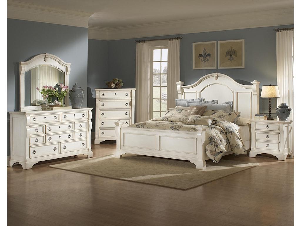 American Woodcrafters Heirloom Queen Bedroom Group