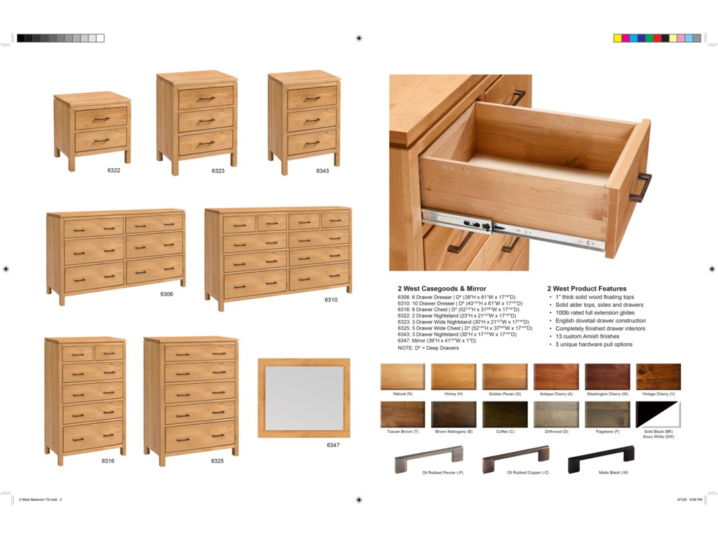 Vendor 980 2 West6 Drawer Dresser