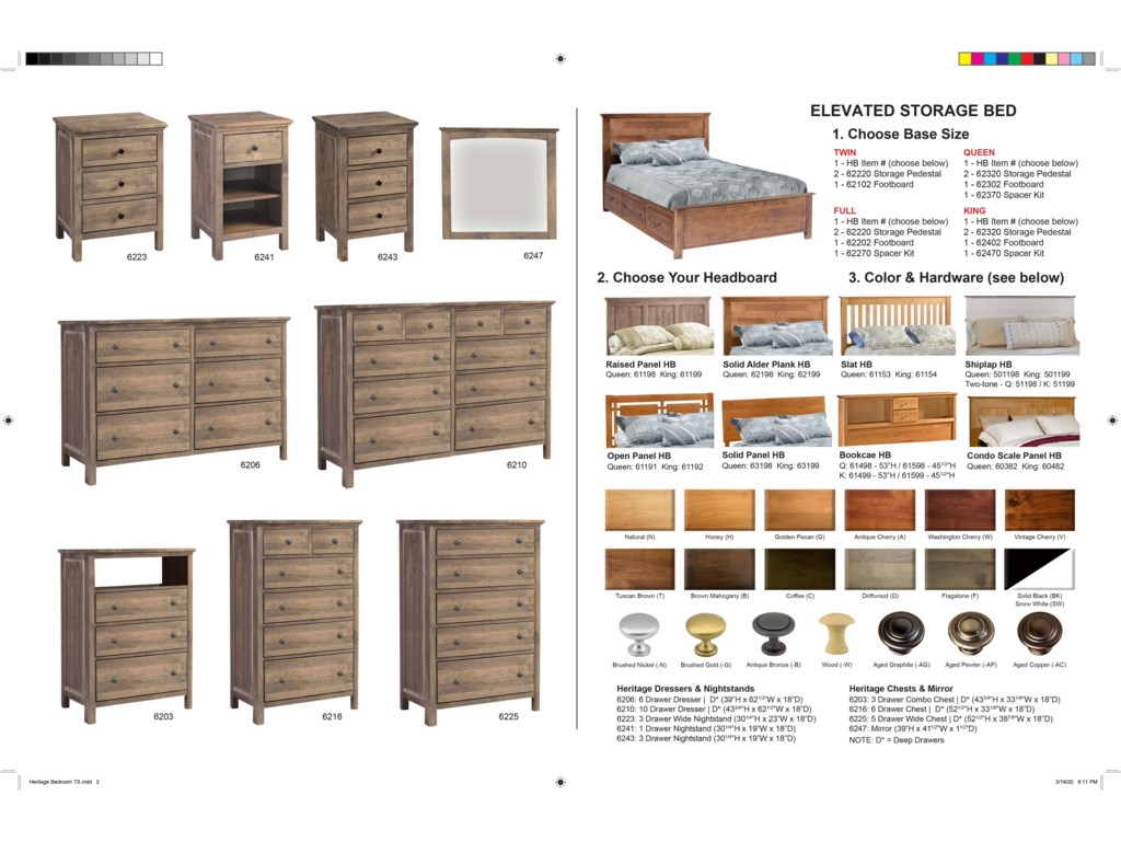 Archbold Furniture Alder HeritageRaised Panel Bed Bedroom Group