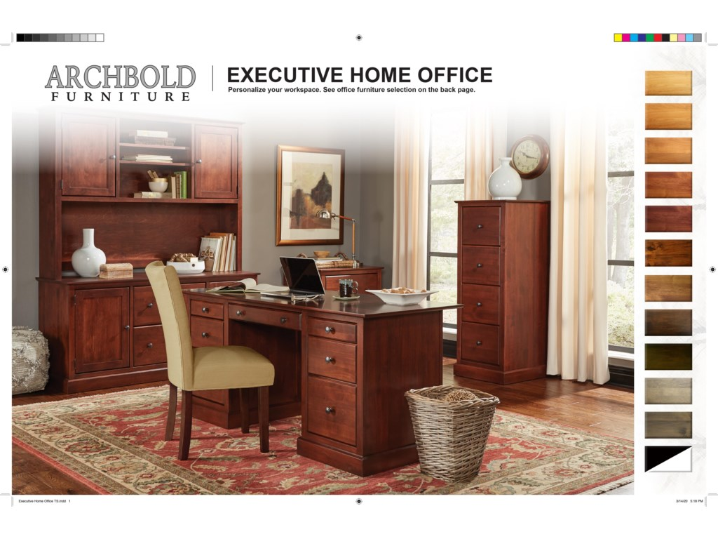 Archbold Furniture Executive Home Office4 Drawer File