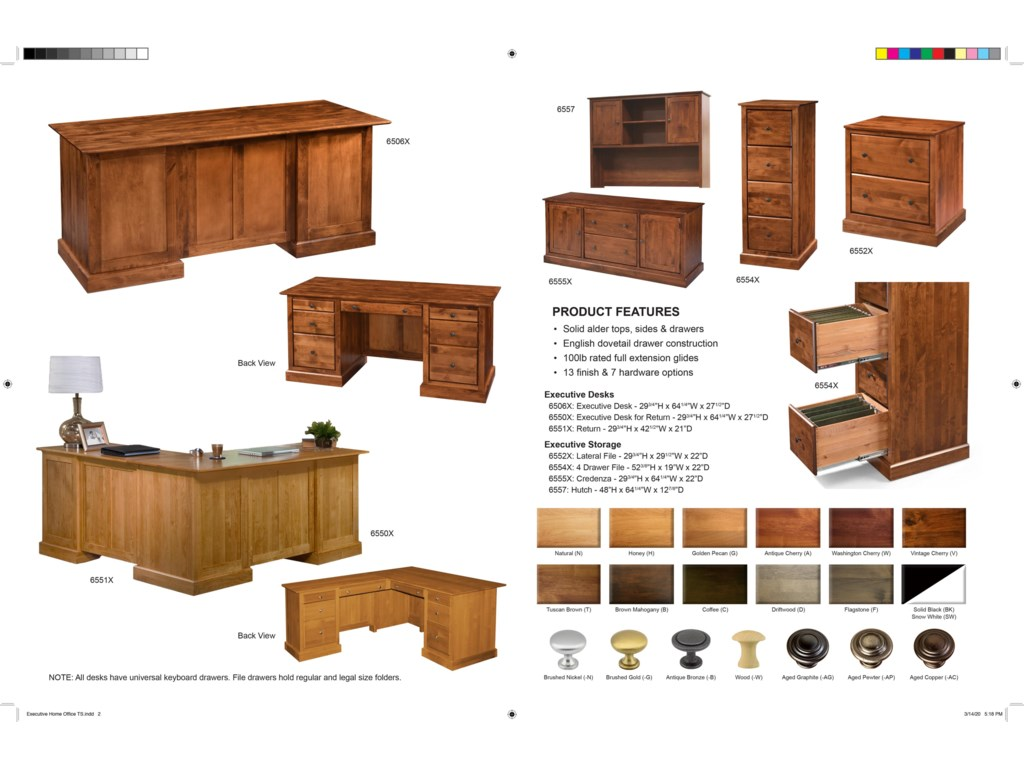 Archbold Furniture Executive Home OfficeExecutive Home Office Group