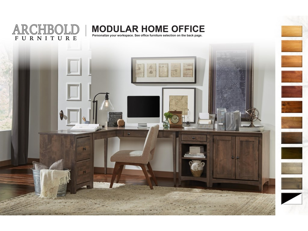 Archbold Furniture Modular Home Office4 Drawer Desk