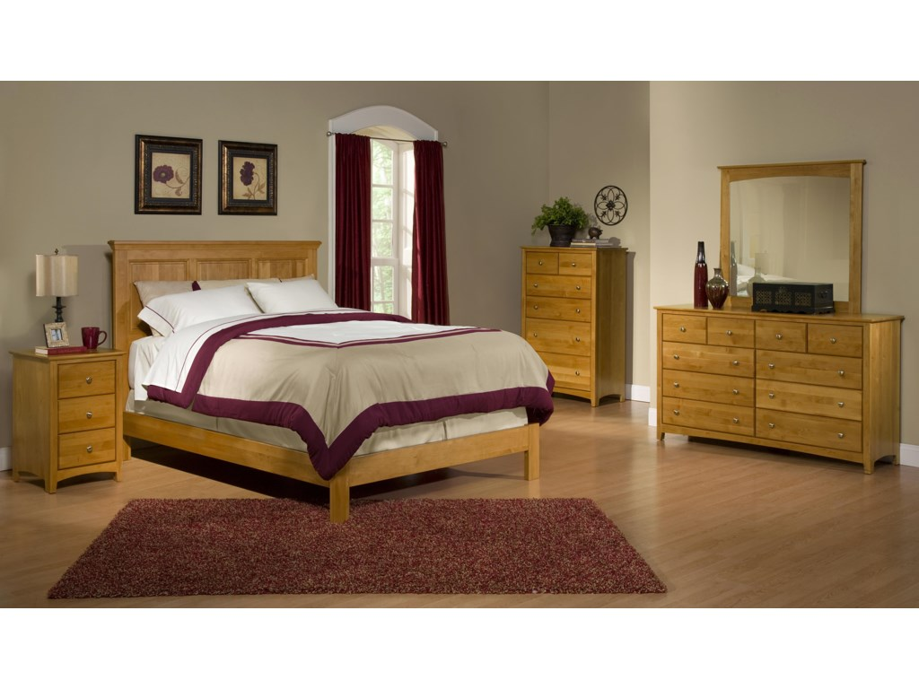 Archbold Furniture Alder ShakerFull Bedroom Group 1