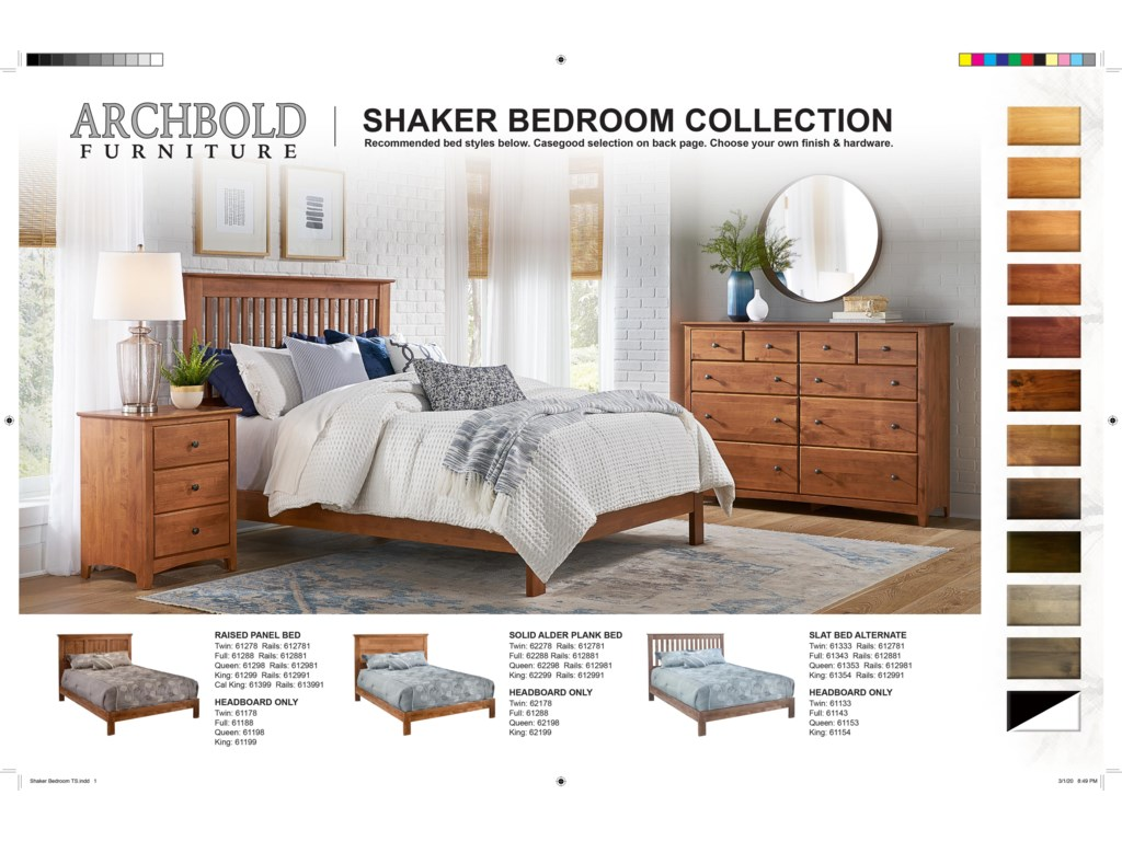 Archbold Furniture Shaker BedroomDresser