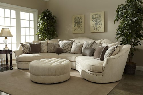 A.R.T. Furniture Inc Cotswold Amanda - Ivory Stationary Living Room Group