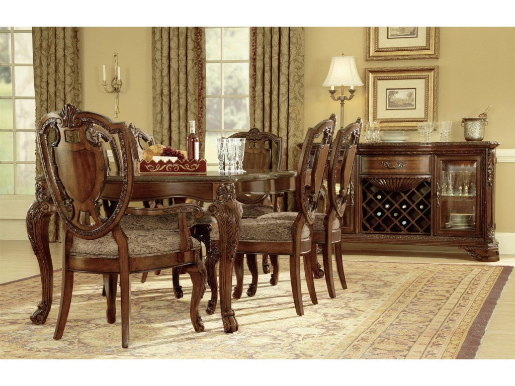 A R T Furniture Inc Old World Formal Dining Room Group