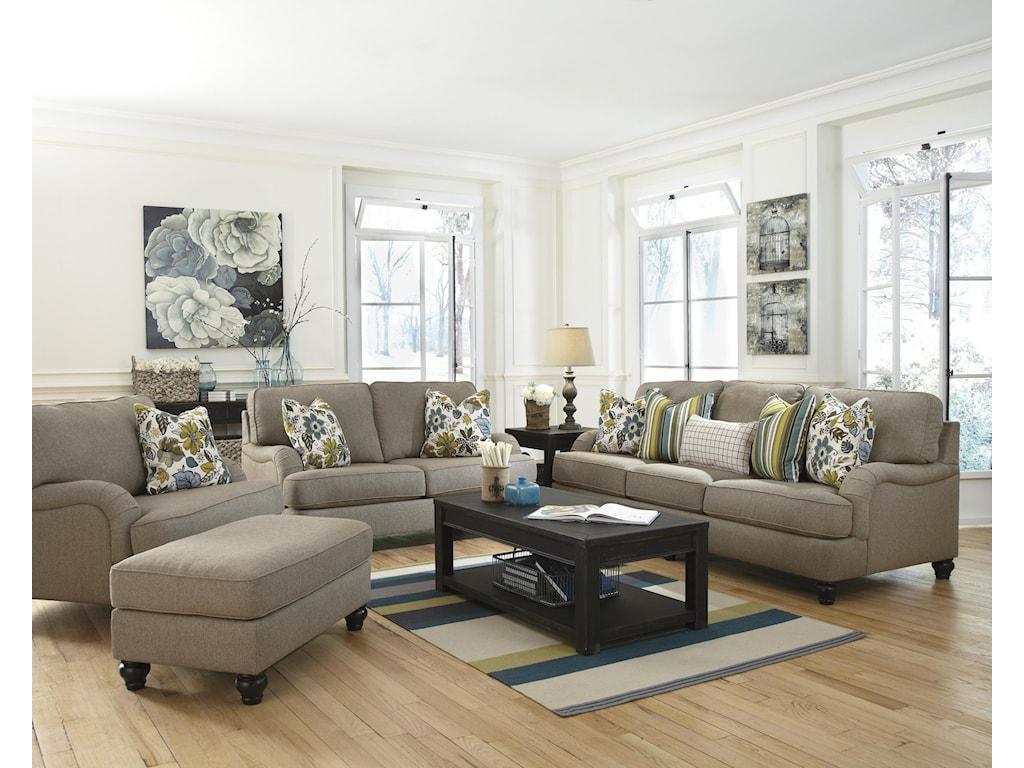Furniture upholstery group bay city saginaw - Ashley Furniture Hariston Shitake Stationary Living Room Group