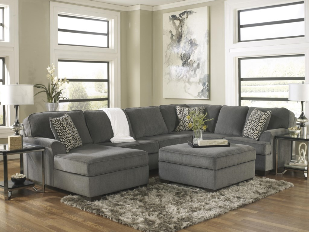 Ashley Furniture Loric - SmokeStationary Living Room Group