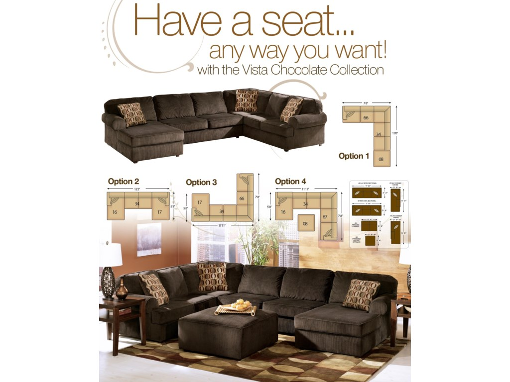 Ashley Furniture Vista - ChocolateOttoman