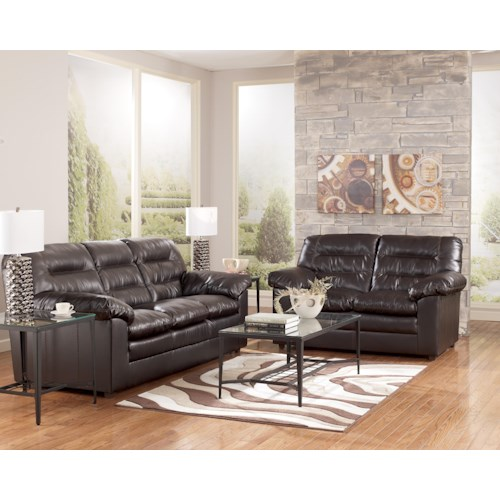 Millennium Knox DuraBlend - Coffee Stationary Living Room Group