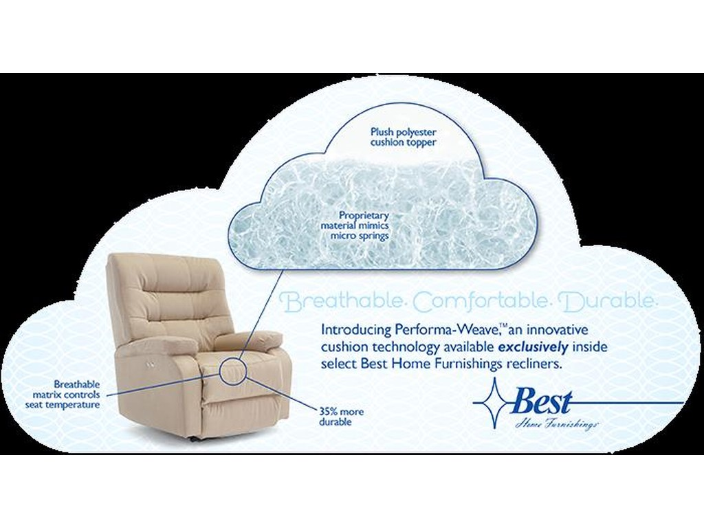 Best Home Furnishings OptimaPower Tilt Headrest Space Saver Recliner