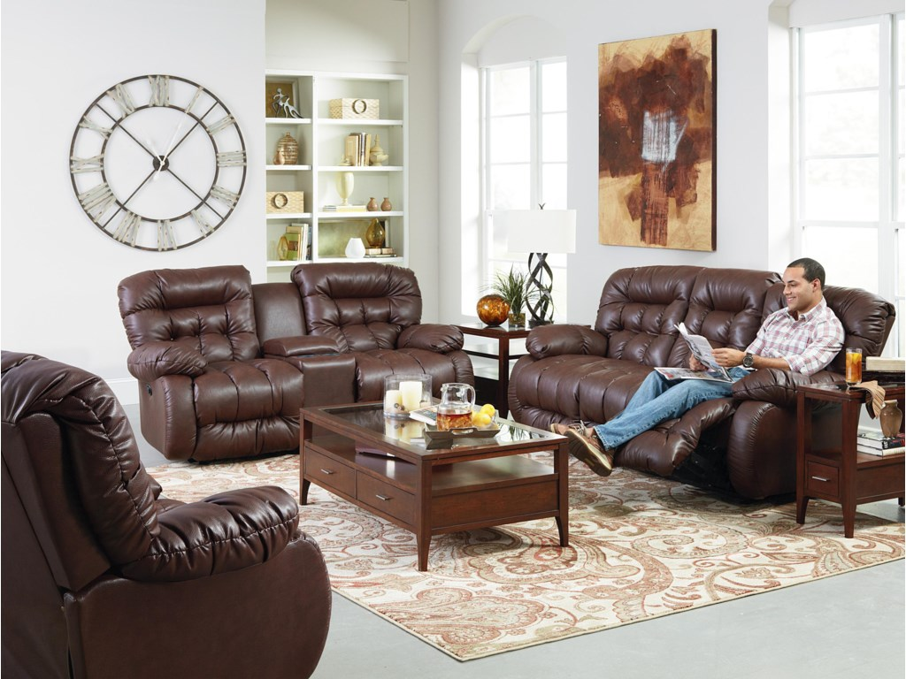 Best Home Furnishings PlusherReclining Living Room Group