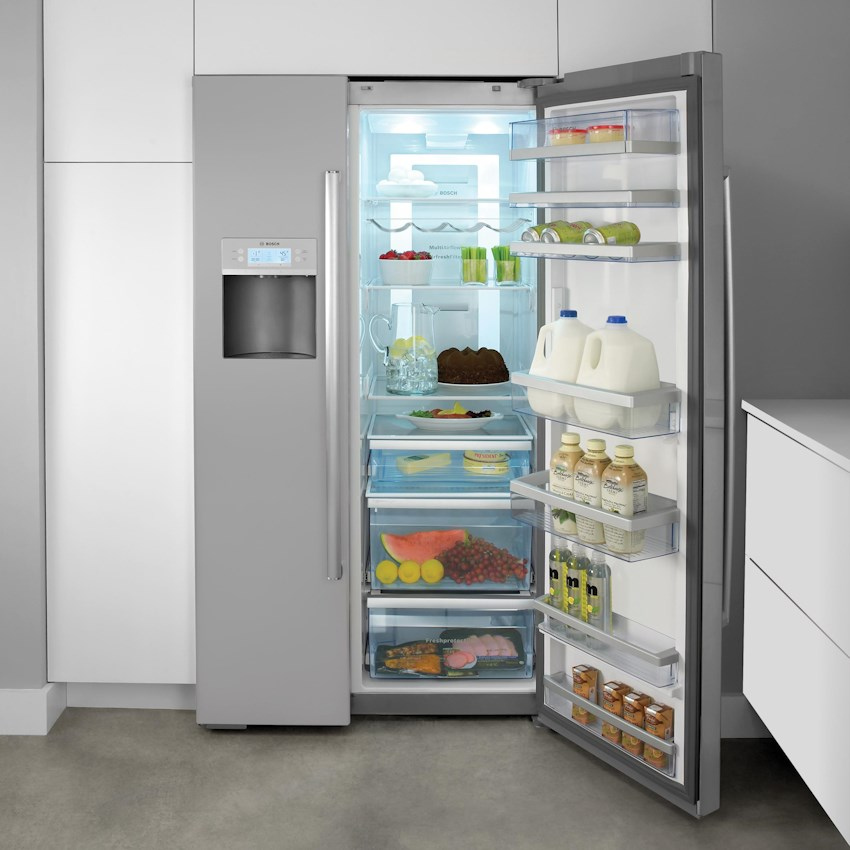 Side By Side Refrigerators Stainless Steel By Bosch Boulevard