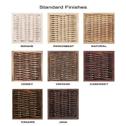 Standard Wicker Finish Options Available by Custom Order
