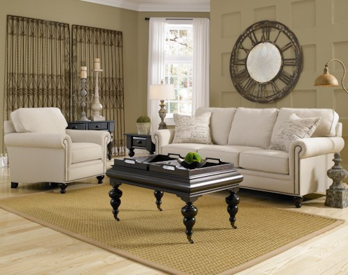 Broyhill Furniture Harrison Stationary Living Room Group