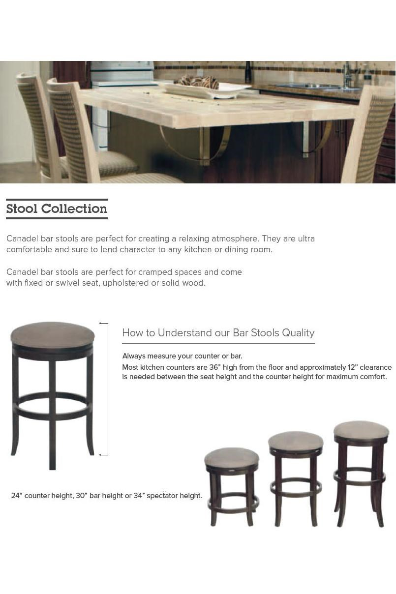 Canadel Bar Stools Customizable 34 Canadel Bar Stools O15