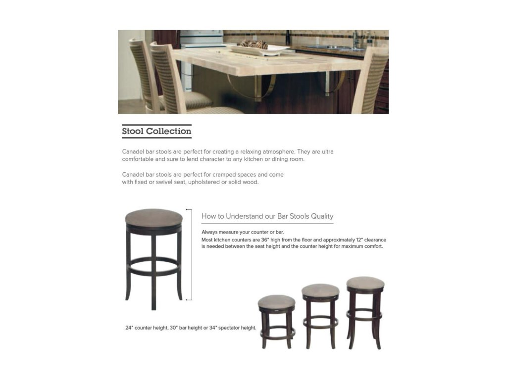 Canadel Bar Stools<b>Customizable</b> 25