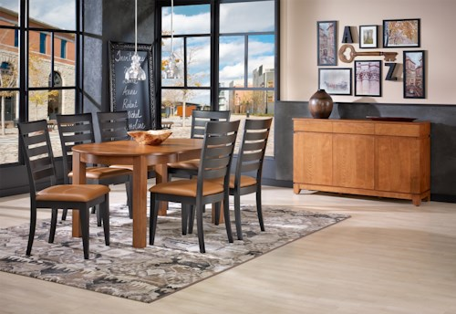 Canadel Gourmet - Custom Dining Casual Dining Room Group