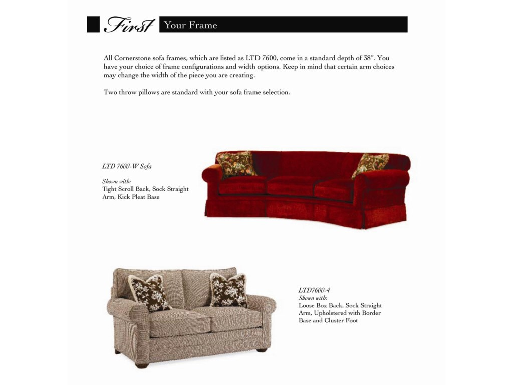 Century Cornerstone <b>Customizable</b> Sectional Sofa