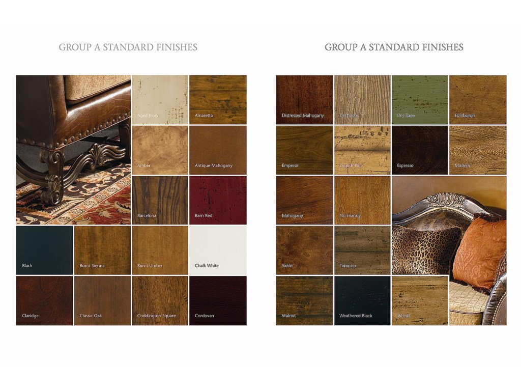 Standard Finishes Offered in Assorted Painted, Antiqued, Aged and Natural Wood Finish Styles