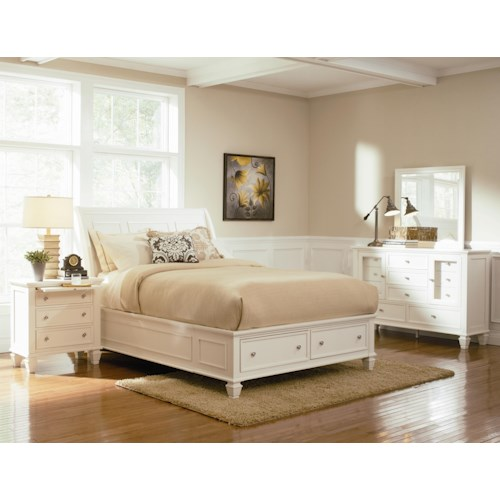 Coaster Sandy Beach Queen Bedroom Group