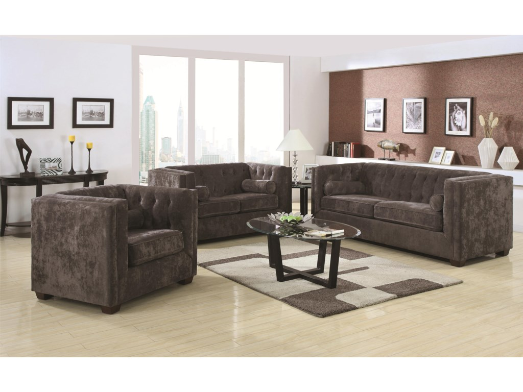 Coaster Alexis CHStationary Living Room Group