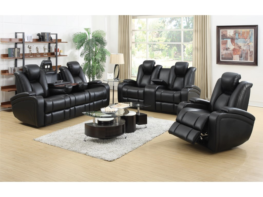 Coaster DelangeReclining Living Room Group