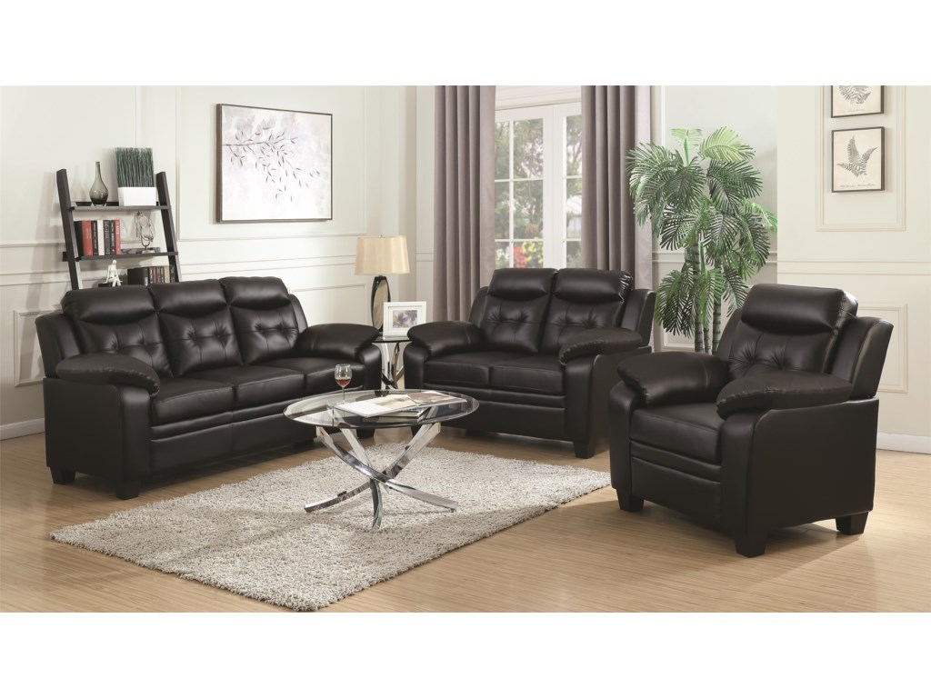 Coaster FinleyStationary Living Room Group