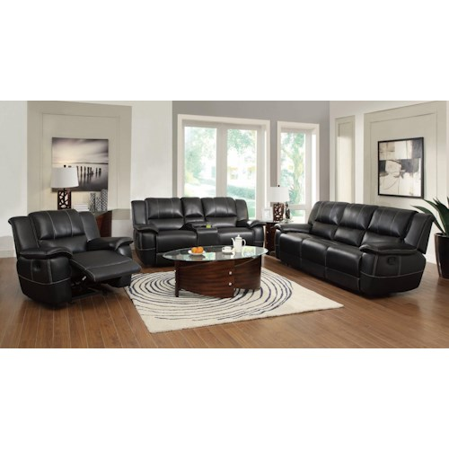 Coaster Lee Reclining Living Room Group