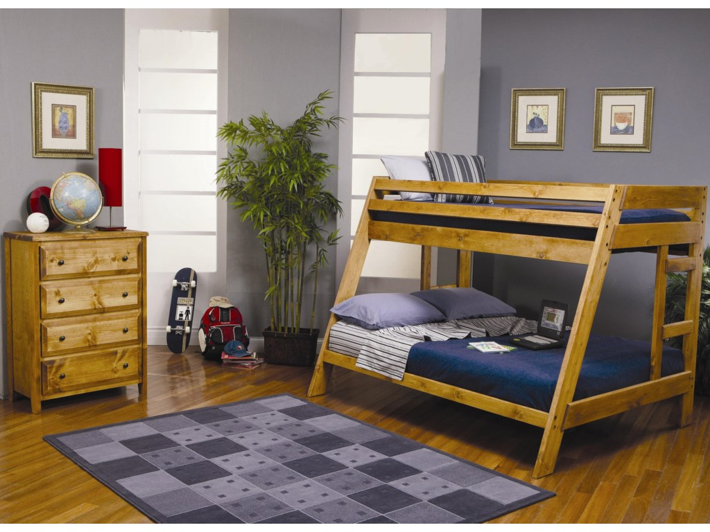 Coaster Wrangle HillTwin Over Full Bunk Bedroom Group