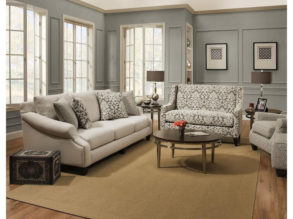 Corinthian 56A0Stationary Living Room Group