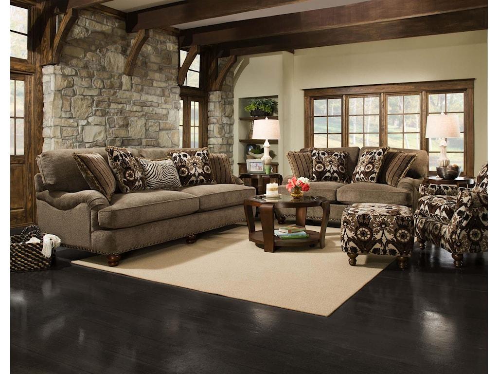 Corinthian 8010Stationary Living Room Group