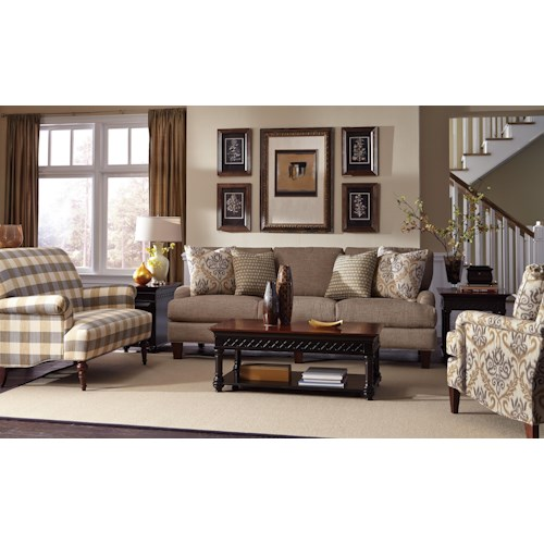 Craftmaster 7430 Stationary Living Room Group