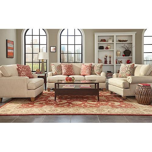 Craftmaster C9 Custom Collection <b>Customizable</b> Living Room Group
