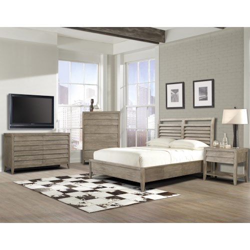 Cresent Fine Furniture Corliss Landing King Bedroom Group