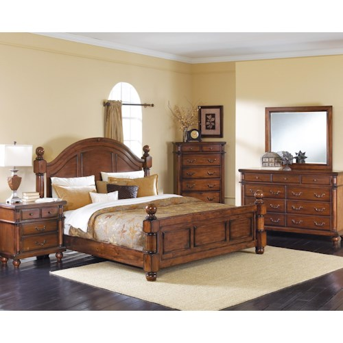 Crown mark augusta king bedroom group bullard furniture for Furniture r us fayetteville nc