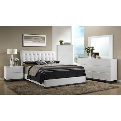 Crown Mark Avery  Queen Bedroom Group
