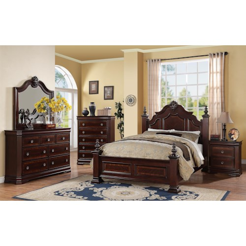 Crown Mark Charlotte King Bedroom Group