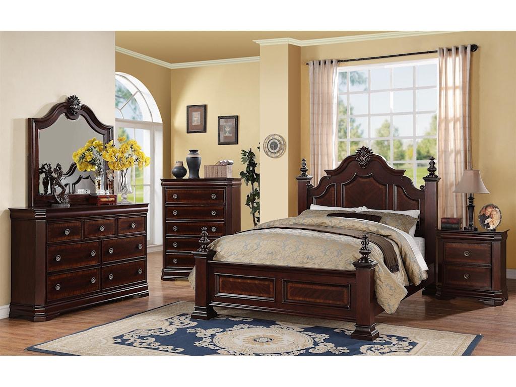 Crown Mark CharlotteQueen Bedroom Group