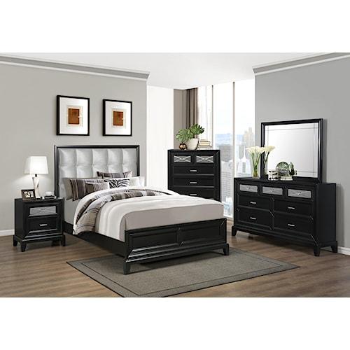 Crown Mark Elisa Queen Bedroom Group