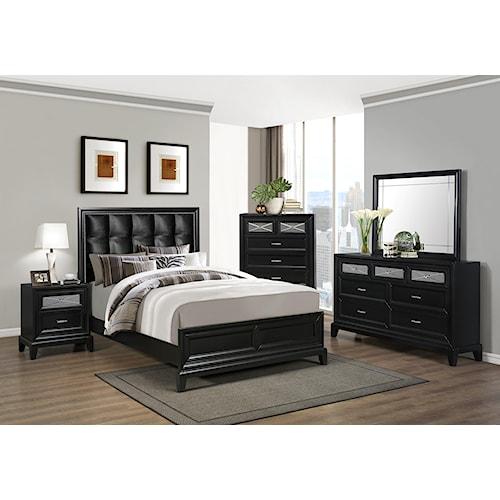 Crown Mark Elise Queen Bedroom Group