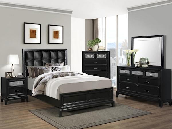 Crown Mark Farrow Queen Bedroom Group: Phoenix, Glendale, Tempe, Scottsdale