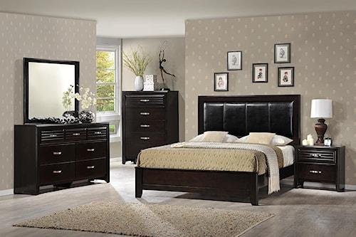 Crown Mark Jocelyn California King Upholstered Bedroom Group