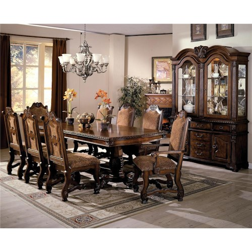 Neo Renaissance Traditional Formal Dining Upholstered Side: Neo Renaissance By Crown Mark